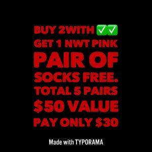NWT Pink VS socks
